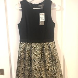 Donna Ricco Dress with Black Top & Shimmery Skirt
